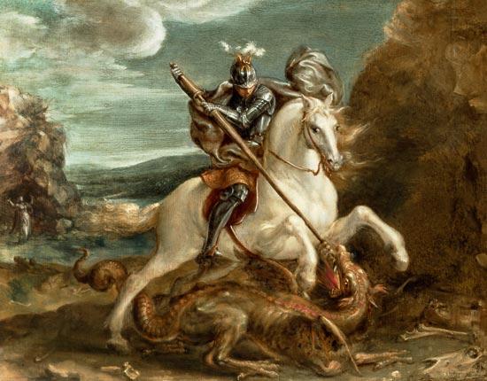 st_Jorge_matando al dragón_S.XVI_Hans von Aachen